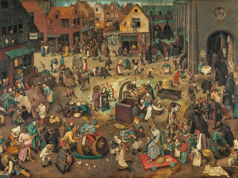Bruegel the Elder, Battle Between Carnival and Lent, 1559