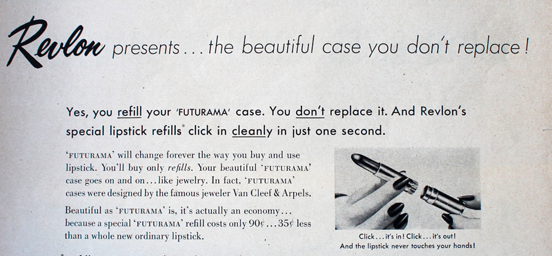 Revlon Futurama ad text, 1956