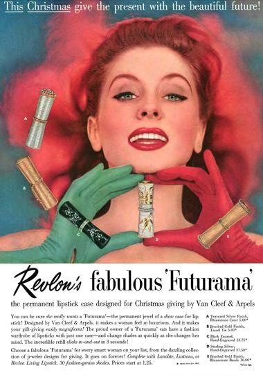 Revlon Futurama lipstick ad, 1956