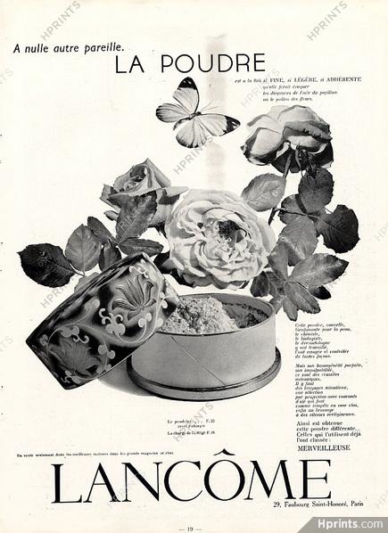 Lancome powder ad, 1935