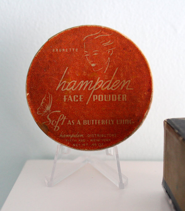 Hampden face powder, ca. 1931-1945