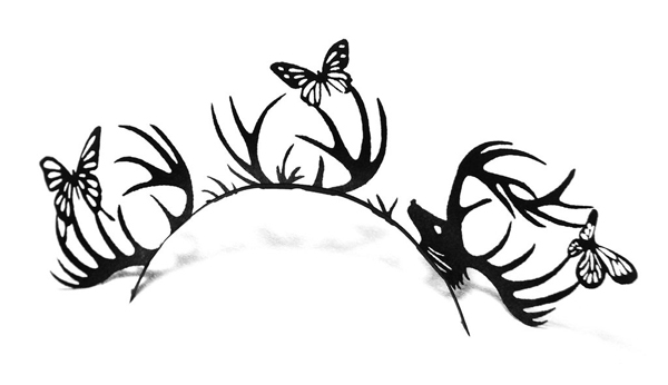 Paperself deer and butterfly lashes