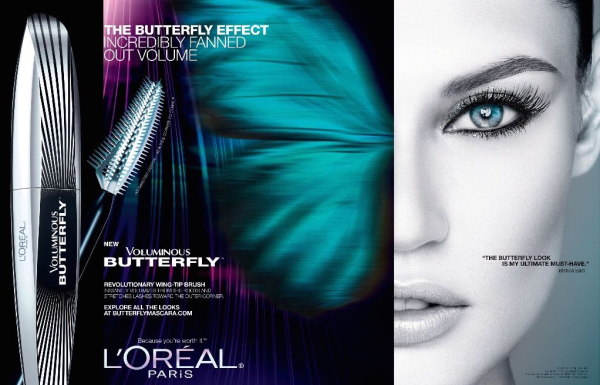 L'Oreal Butterfly Effect mascara ad