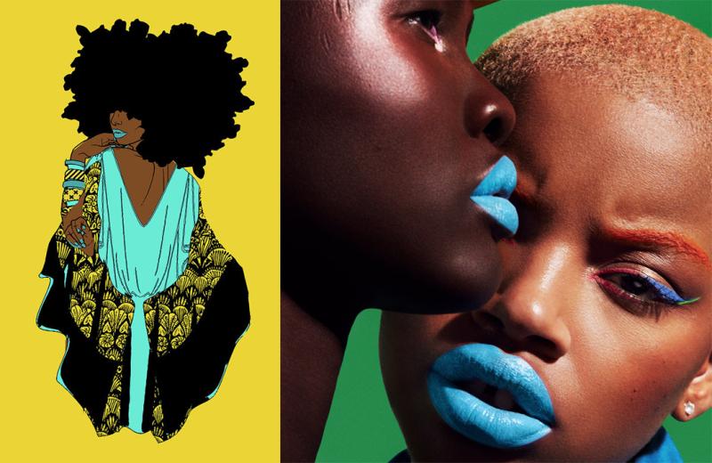 Dana Bly print and Fenty Poutsicle lipstick