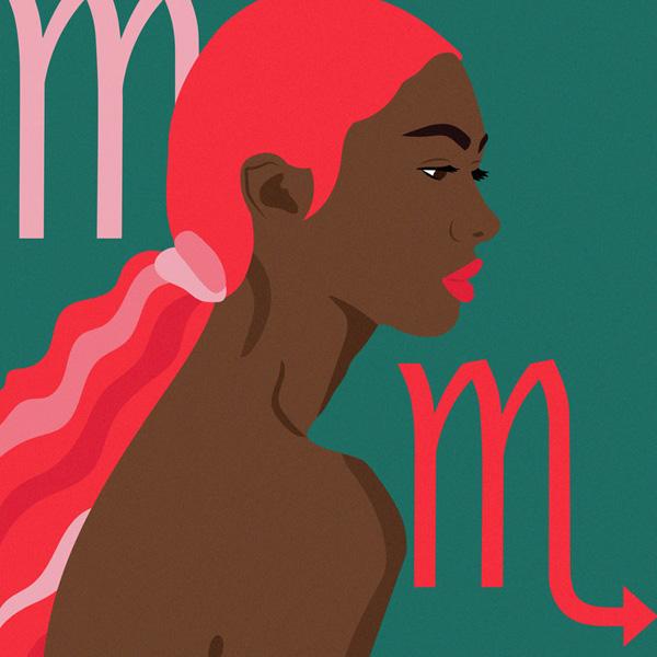 Laci Jordan, zodiac illustration for XO Necole