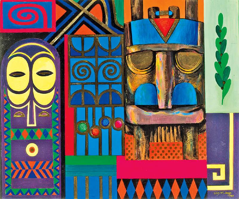 Lois Mailou Jones, Symboles d'Afrique, 1980