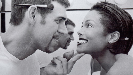 Kevyn Aucoin and Janet Jackson
