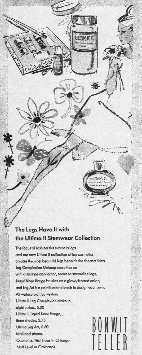 Ad for Revlon Ultima II Stemwear, Chicago Tribune, June 13, 1966