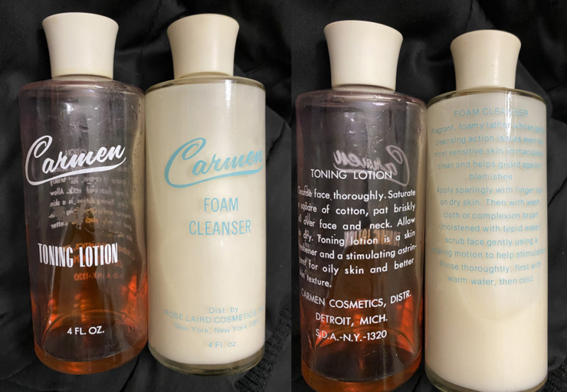 Carmen Cosmetics Toning Lotion and Foam Cleanser