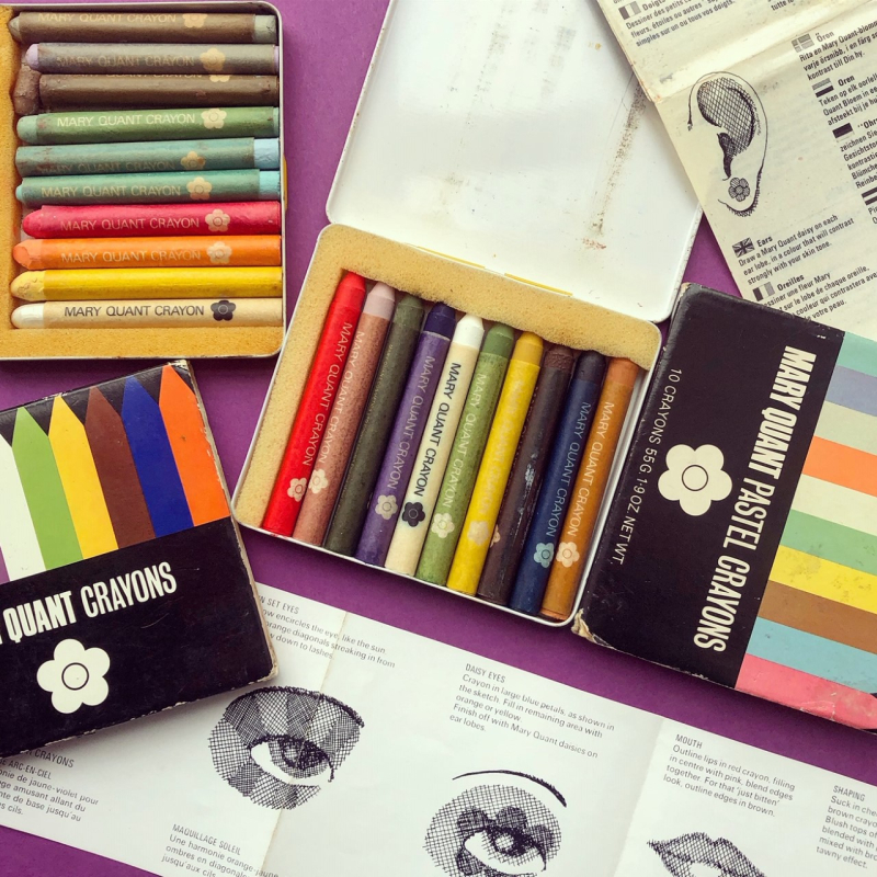 Mary Quant crayons, late 1960s-early 70s