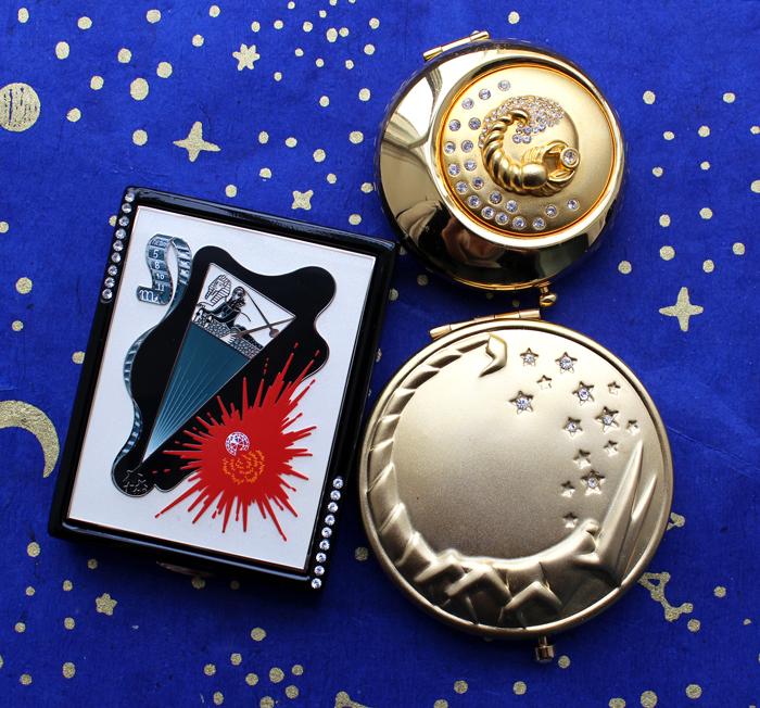 Estée Lauder zodiac compacts