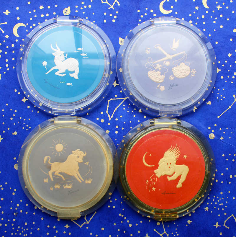 Ziegfeld Girls zodiac compacts, 1946