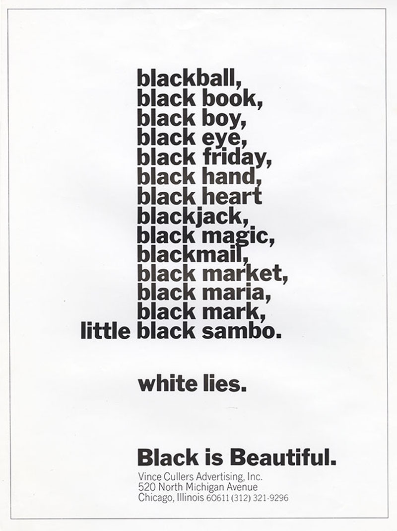 Emmett McBain, Black is Beautiful ad