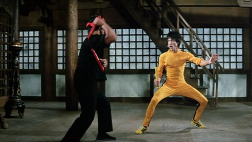 Bruce Lee wearing Onitsuka Tigers