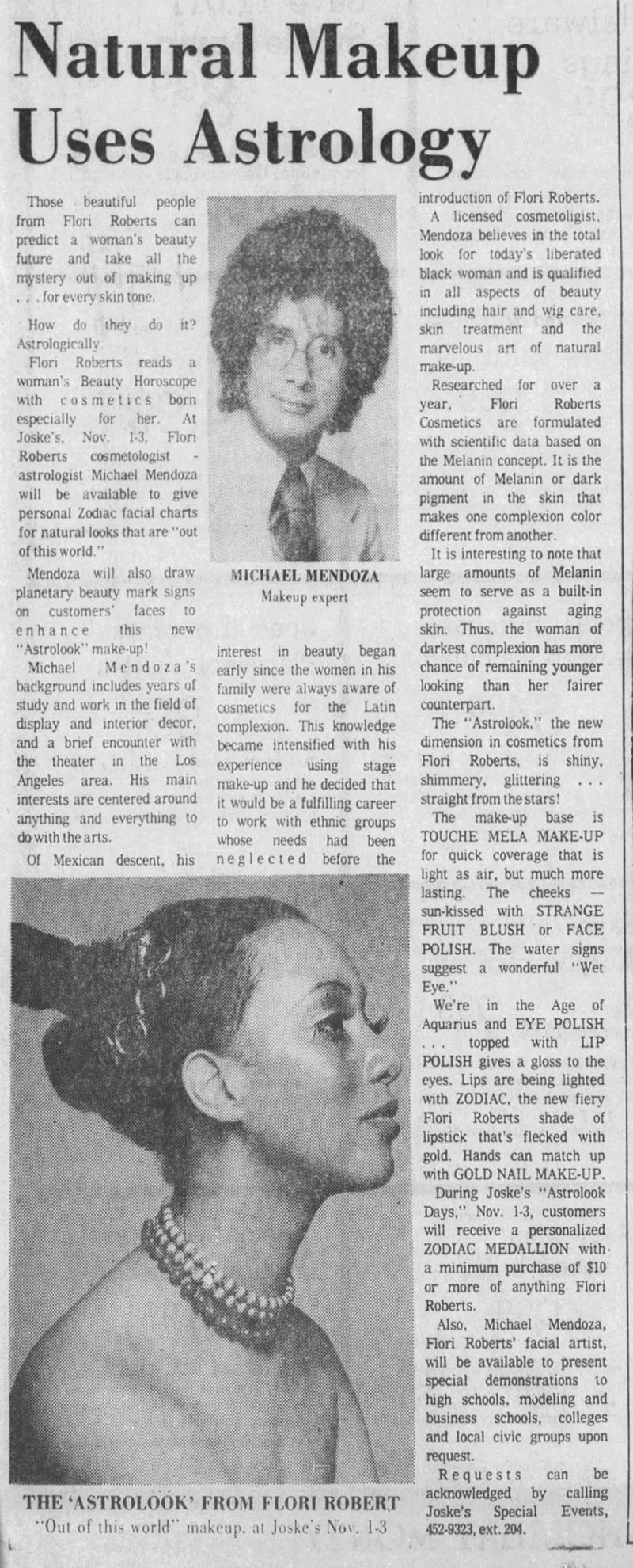Flori Roberts zodiac line, 1973