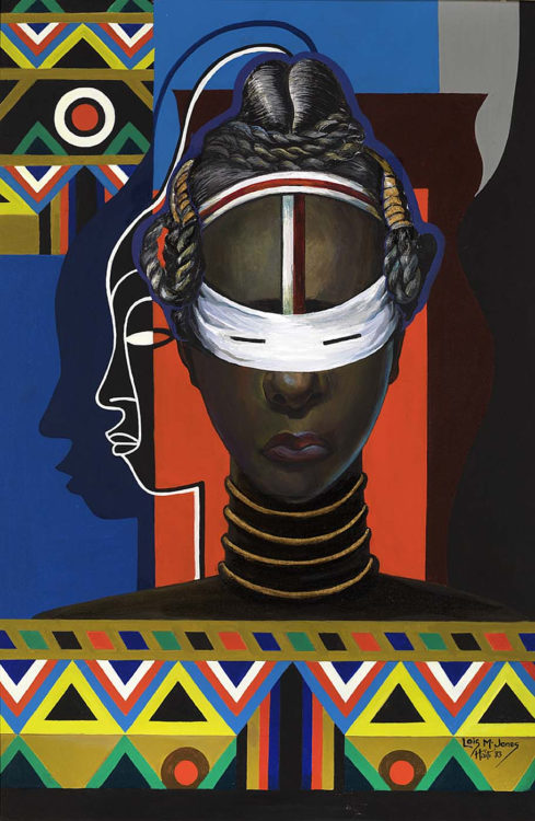 Lois Mailou Jones, Initiation, Liberia, 1983