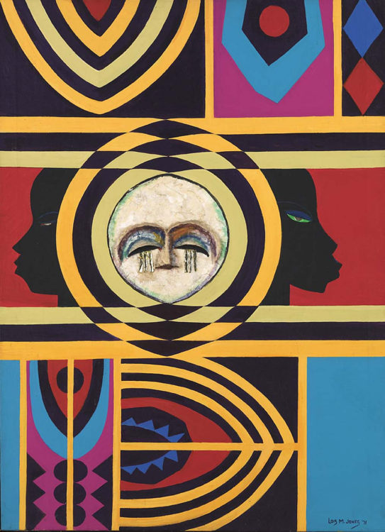 Lois Mailou Jones, Moon Masque, 1971