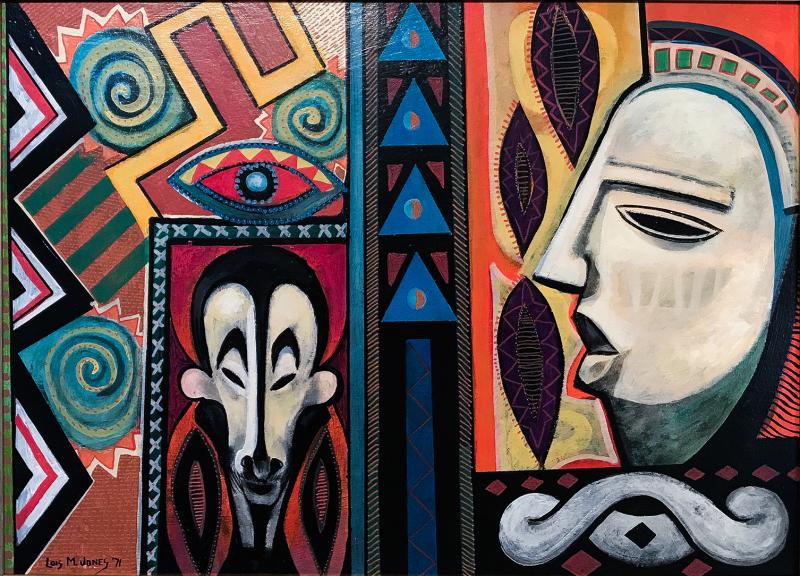 Lois Mailou Jones, Dream of Nigeria, 1971