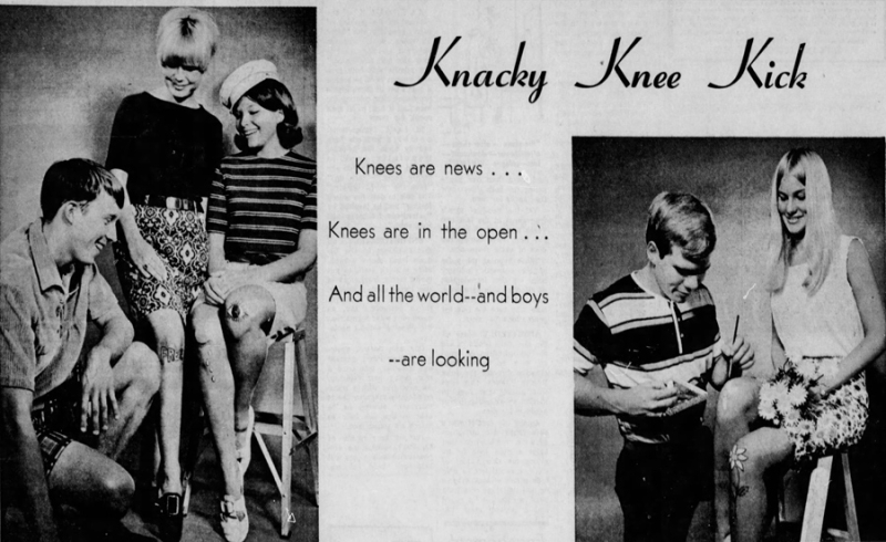 Knee painting, Orlando Sentinel, July 17, 1966