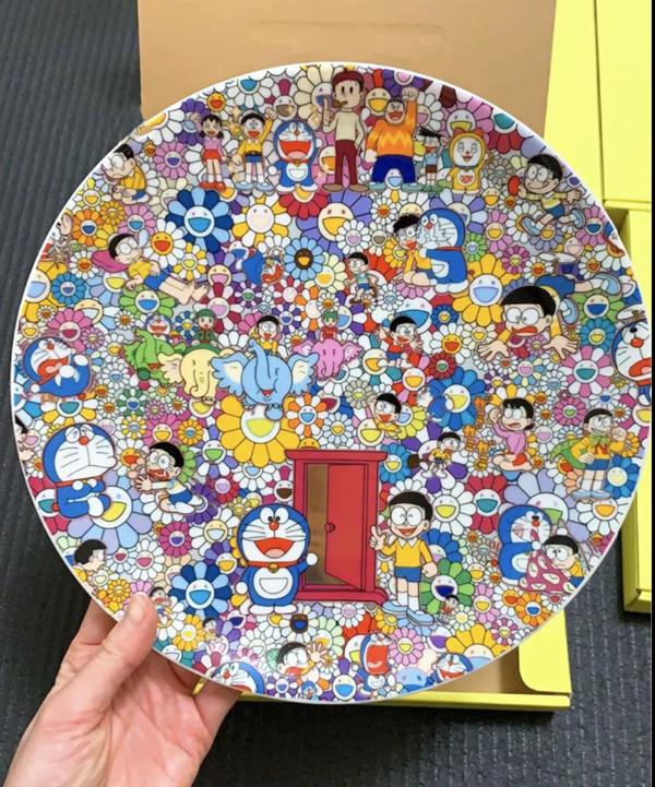 Murakami Doraemon plate