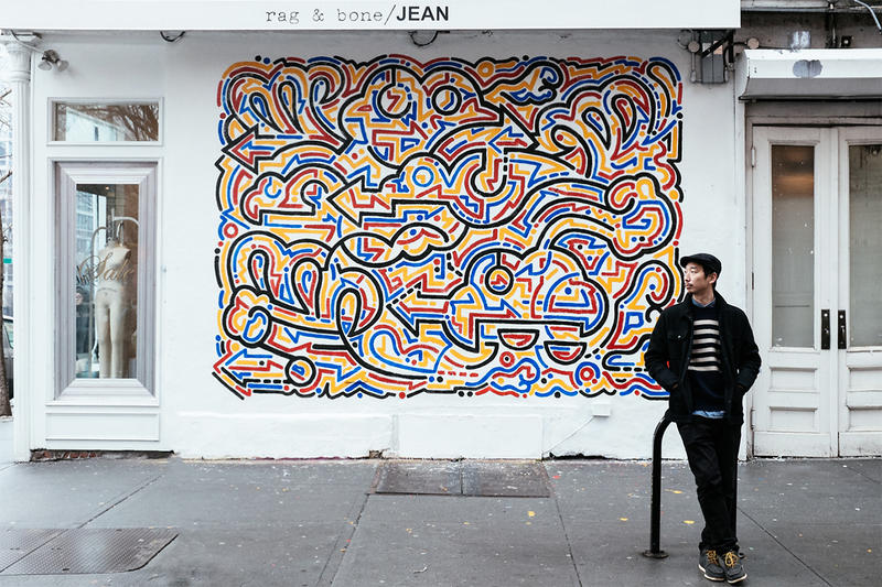 Yoon Hyup mural for Rag and Bone in Soho, 2014
