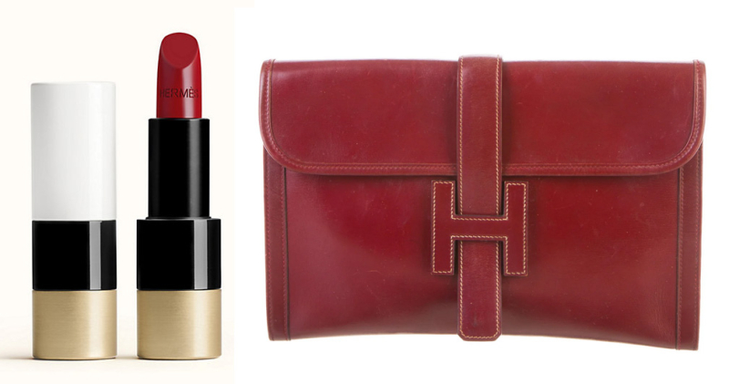 Rouge H. lipstick and bag