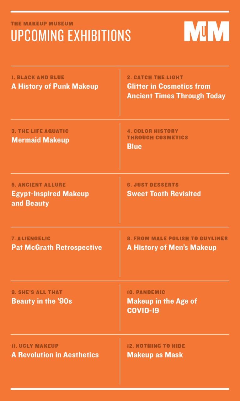 Makeup Museum exhibition list