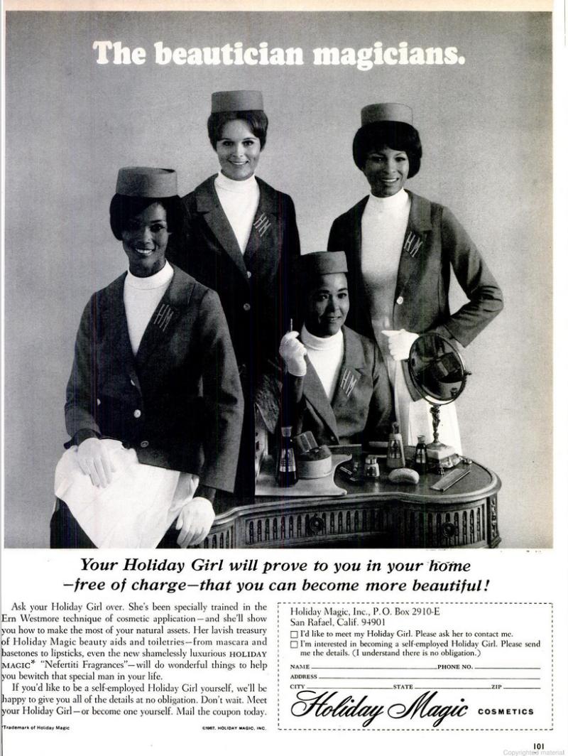 Holiday Magic ad, Ebony Magazine, January 1968