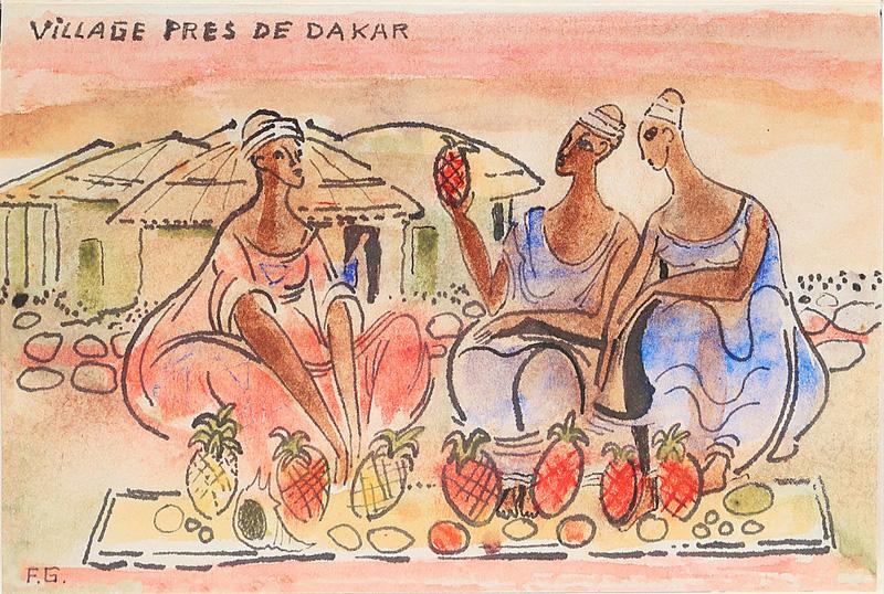 Francoise Gilot sketchbook