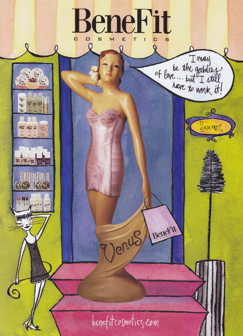 Benefit ad - Vogue, May 2000