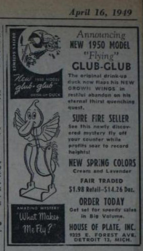House of Plate ad in The Billboard, 1949