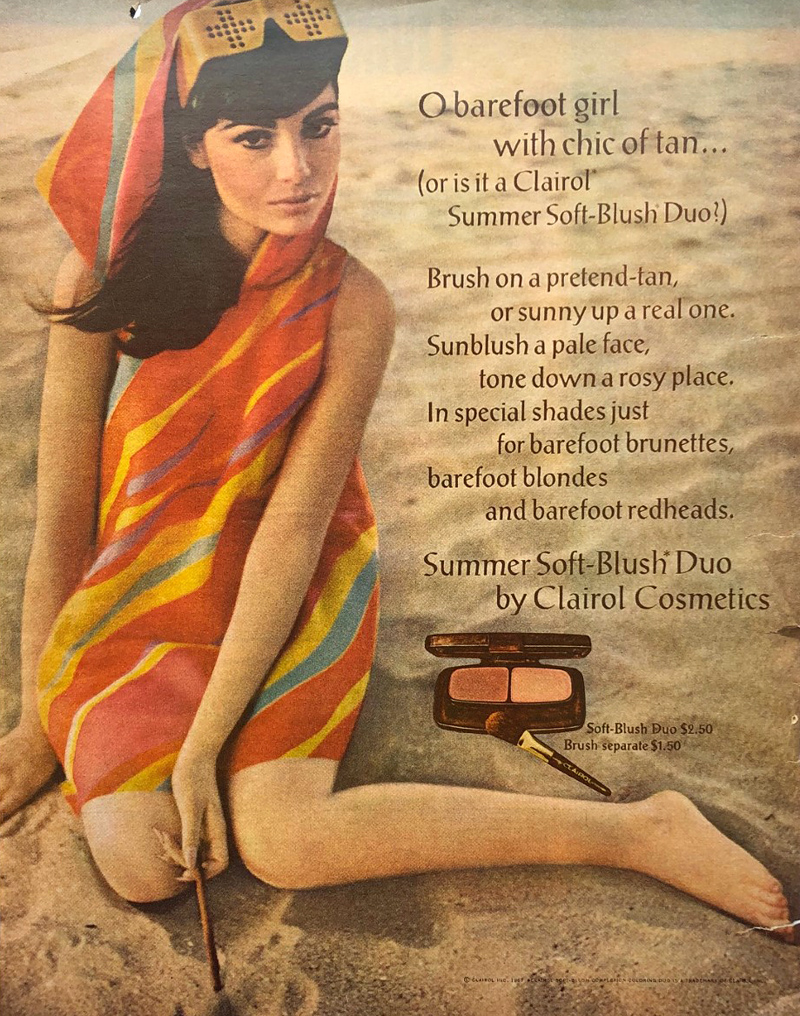 Clairol blush ad, 1967