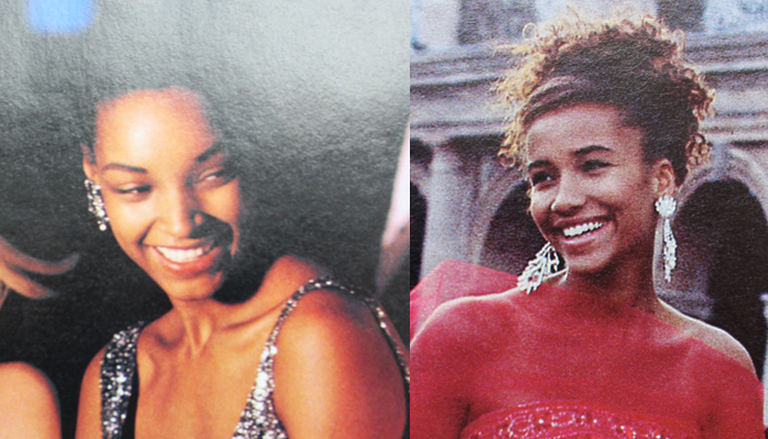 Minimal prom looks from Seventeen Magazine, 1992 and 1991