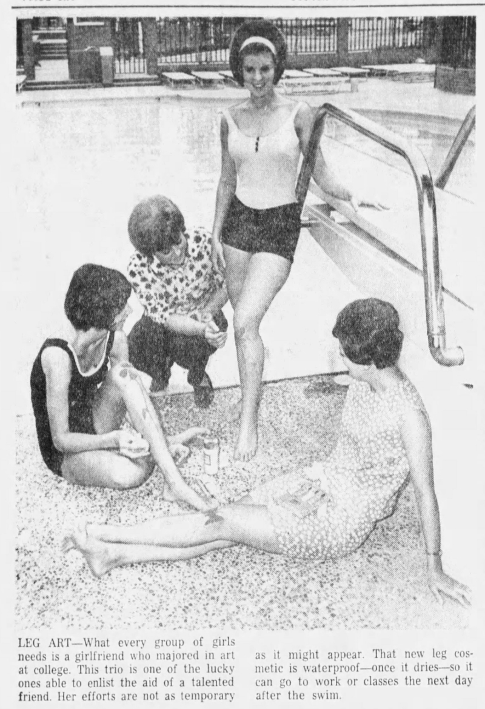Knee painting, Fort Worth Star Telegram, August 19, 1966