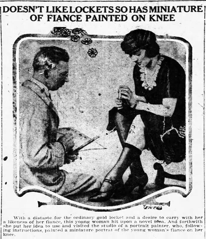 Knee painting, 1921