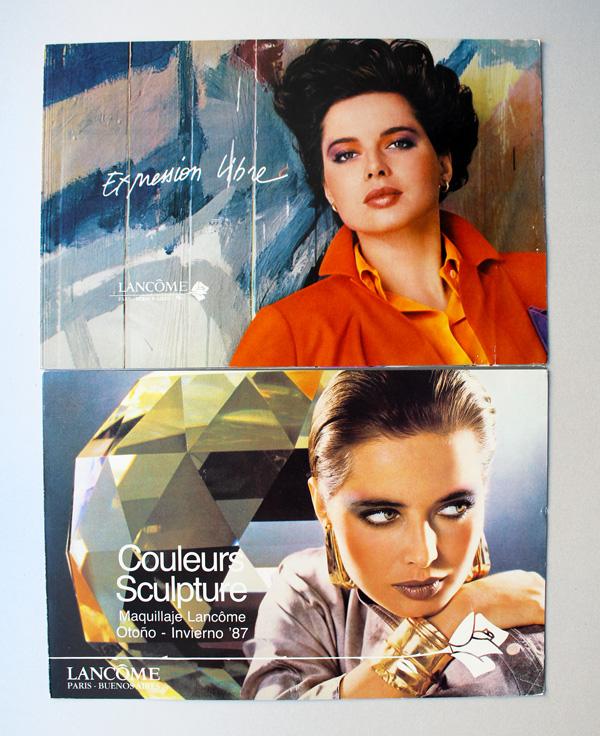 Lancome postcards, 1986-1987