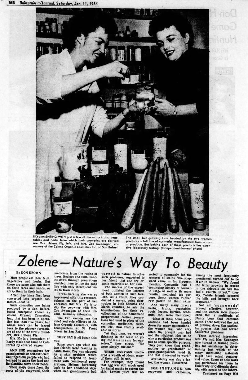 Zolene cosmetics, 1964