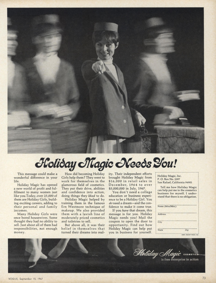 Holiday Magic ad in Vogue, September 1967