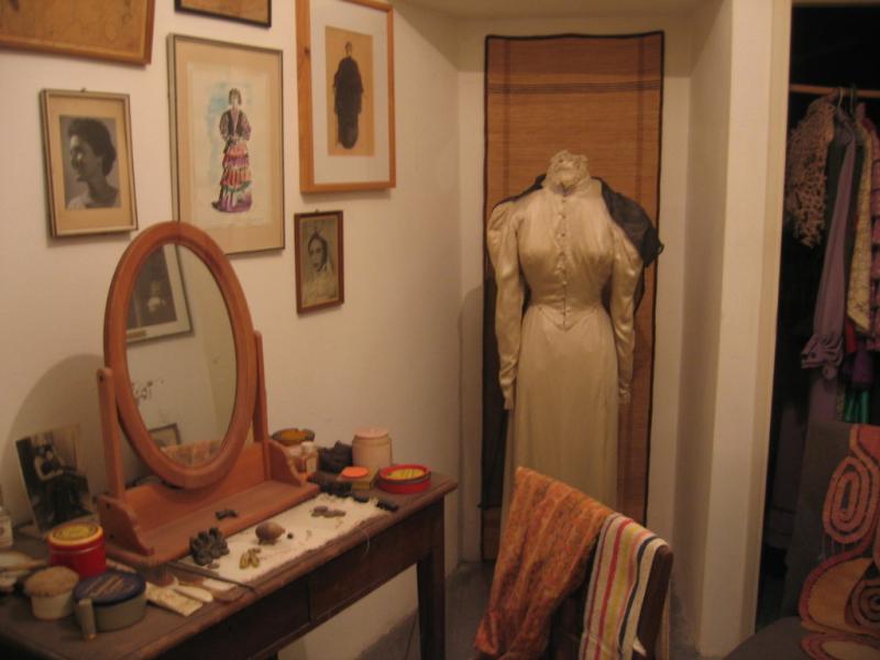 Hanna Rovina dressing room