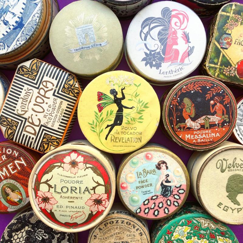 Makeup Museum - powder boxes