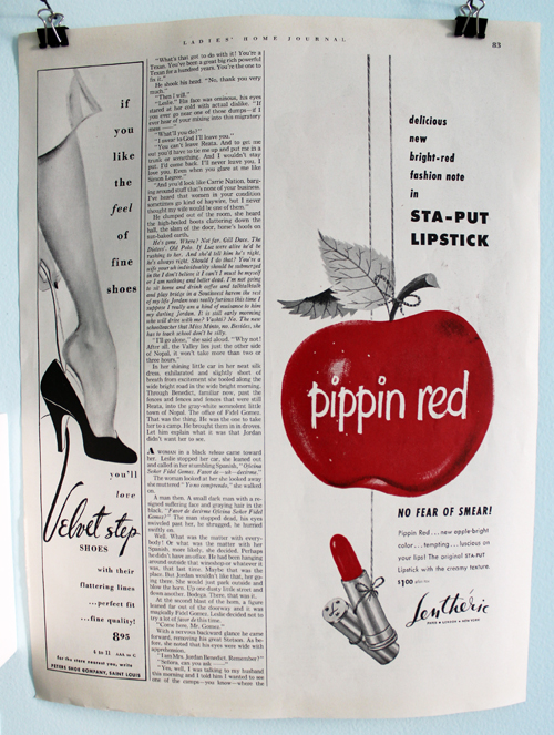 Lentheric Pippin Red ad, 1952