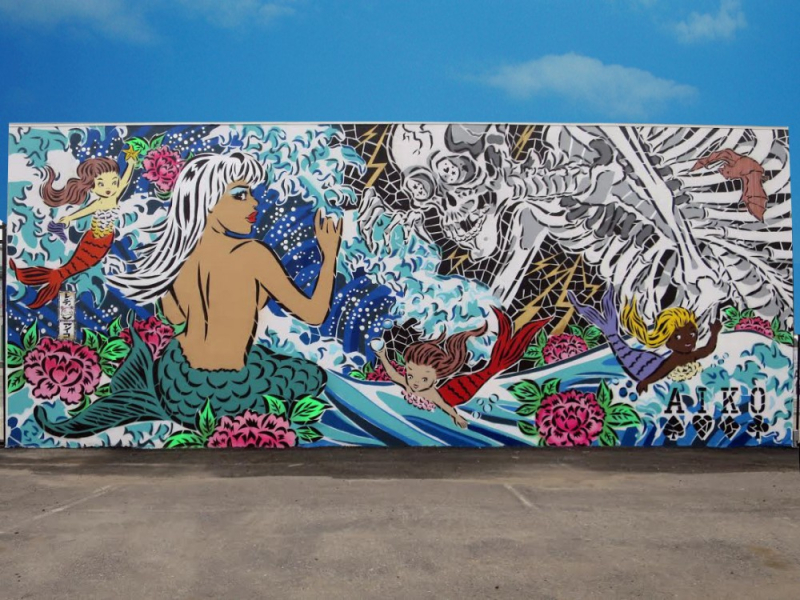 Lady Aiko, Coney Island Art Walls, 2015