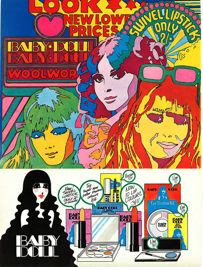 Baby Doll cosmetics ad from the February 15, 1969 issue of Jackie magazine