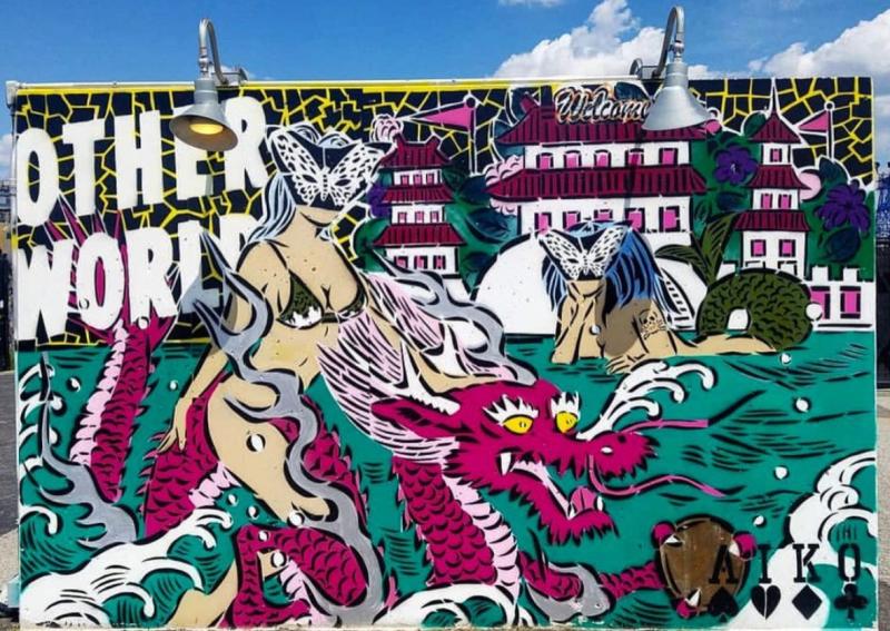 Lady Aiko, Coney Island Art Walls, 2017