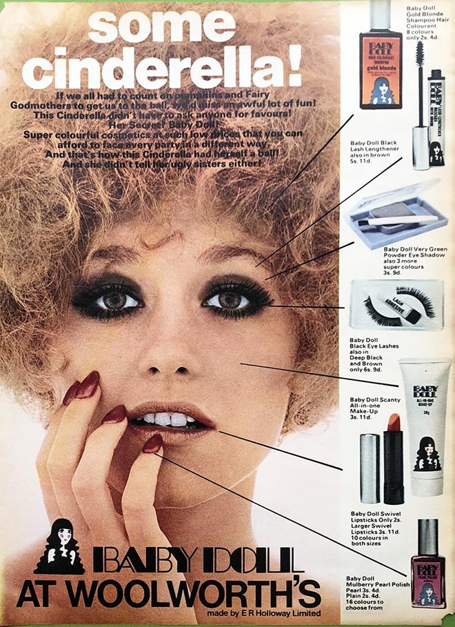 Baby Doll cosmetics ad, 1969